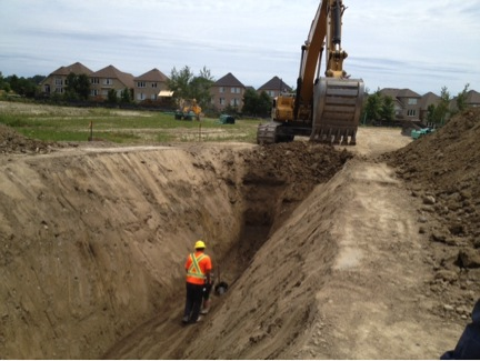 Servicing begins at Mason Homes' Port Hope community.